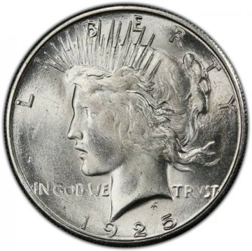 1925-S Peace Silver Dollar Coin - Brilliant Uncirculated (BU)