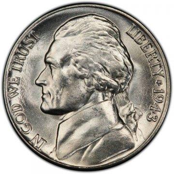 1943-D Jefferson War Nickel Silver Coin - Choice Uncirculated