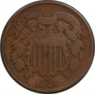 1864 or 1865 Two Cent Pieces from the Civil War - Good or Better