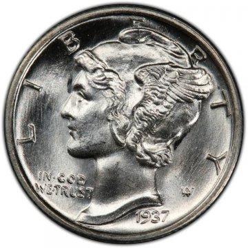 1937-S Mercury Silver Dime Coin - Choice BU