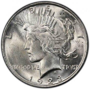 1923 Peace Silver Dollar Coin - Brilliant Uncirculated (BU)