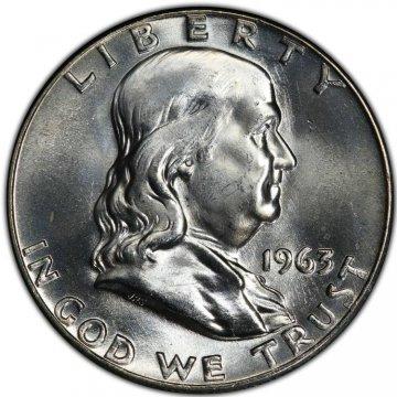 1963-D Franklin Silver Half Dollar Coin - Choice BU