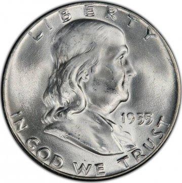 1955 Franklin Silver Half Dollar Coin - Choice BU