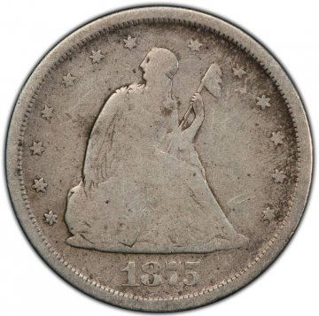 1875-S Twenty Cent Piece Silver Coin - Good / Very Good