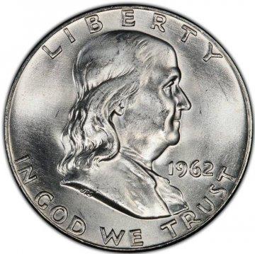 1962-D Franklin Silver Half Dollar Coin - Choice BU