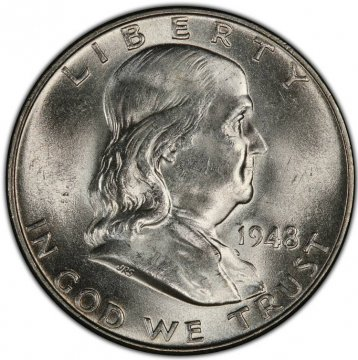 1948 Franklin Silver Half Dollar Coin - Choice BU