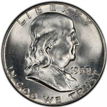 1958 Franklin Silver Half Dollar Coin - Choice BU