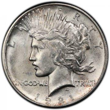 1921 Peace Silver Dollar Coin - Brilliant Uncirculated (BU)