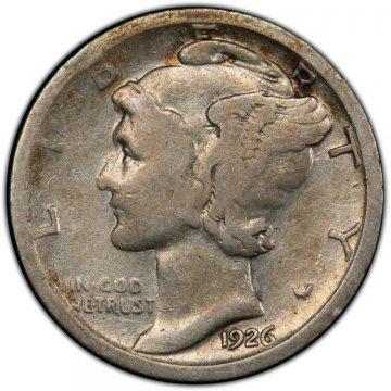 1926-S Mercury Silver Dime Coin - Good