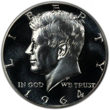 1964 90% Silver Proof Kennedy Half Dollar Coin - Choice PF