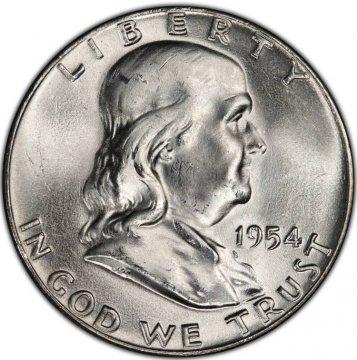 1954 Franklin Silver Half Dollar Coin - Choice BU