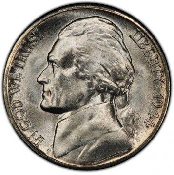 1944-S Jefferson War Nickel Silver Coin - Choice Uncirculated