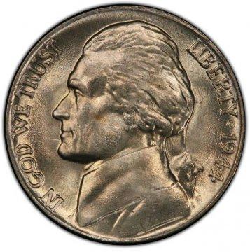 1944-P Jefferson War Nickel Silver Coin - Choice Uncirculated