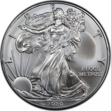 2020 1 oz American Silver Eagle Coin - Gem BU