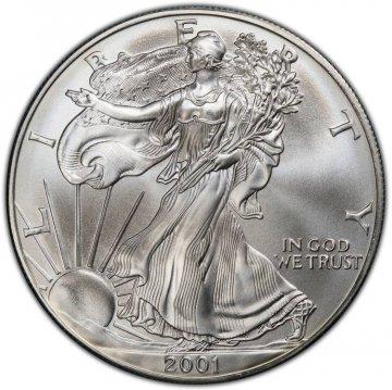 2001 1 oz American Silver Eagle Coin - Gem BU