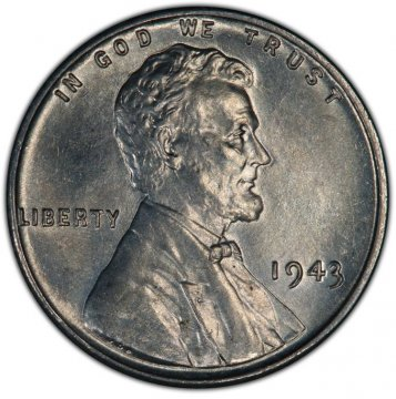 1943-P Lincoln Wheat Steel Cent Coin - Brilliant Uncirculated