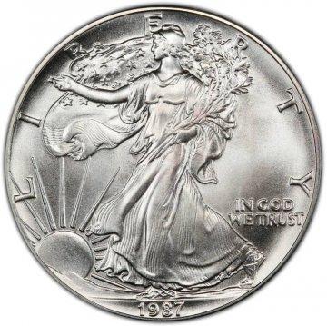 1987 1 oz American Silver Eagle Coin - Gem BU