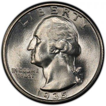 1935 Washington Silver Quarter Coin - Choice BU
