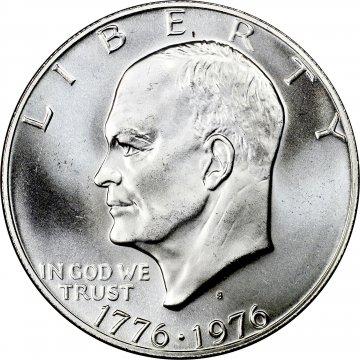 1776-1976-S Eisenhower 40% Silver Dollar Coin - BU