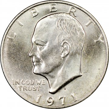 1971 Eisenhower Dollar Coin - BU