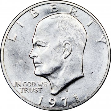 1971-S Eisenhower 40% Silver Dollar Coin - BU