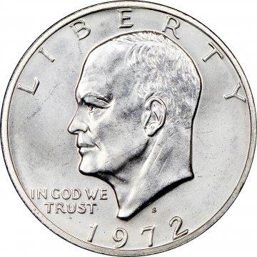 1972-S Eisenhower 40% Silver Dollar Coin - BU