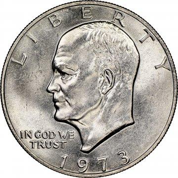 1973 Eisenhower Dollar Coin - Choose Mint Mark - BU
