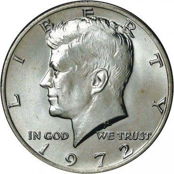 1972 Kennedy Half Dollar Coin - Choice BU
