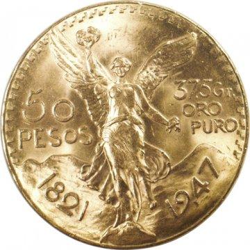 Mexican 50 Pesos Gold Coin - Random Date - BU