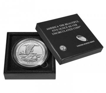 2018-P 5 oz Burnished Block Island ATB Silver Coin (w/ Box & COA)