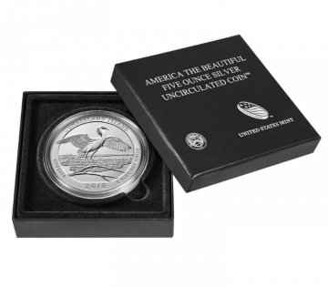 2018-P 5 oz Burnished Cumberland Island ATB Silver Coin (w/ Box & COA)