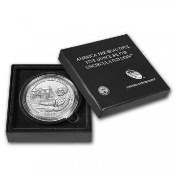 2017-P 5 oz Burnished Frederick Douglass ATB Silver Coin (w/ Box & COA)