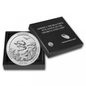 2016-P 5 oz Burnished Shawnee ATB Silver Coin (w/ Box & COA)
