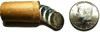 Original Bank Wrapped 1964 Kennedy Silver Half Dollar Coin Rolls