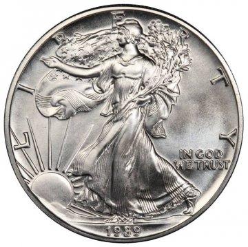 1989 1 oz American Silver Eagle Coin - Gem BU