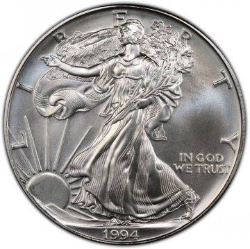 1994 1 oz American Silver Eagle Coin - Gem BU