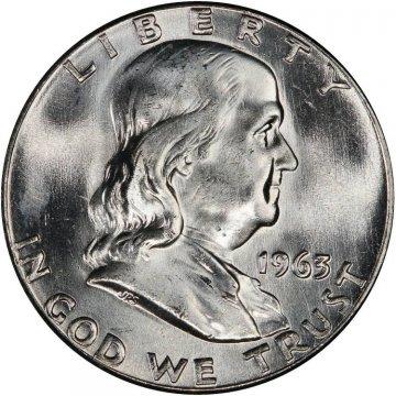 1963 Franklin Silver Half Dollar Coin - Choice BU
