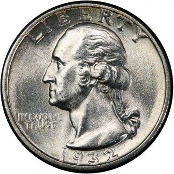 1932 Washington Silver Quarter Coin - Choice BU