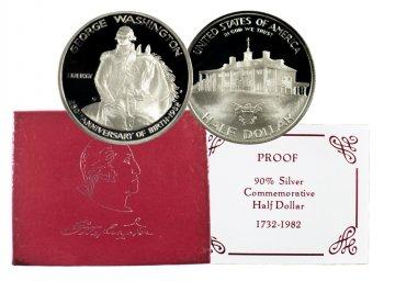 1982 Washington Commemorative Silver Half Dollar Coin (Proof)