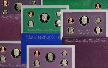 All 16 Clad 1983-1998 U.S. Proof Coin Sets
