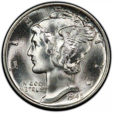 1945-D Mercury Silver Dime Coin - Choice BU