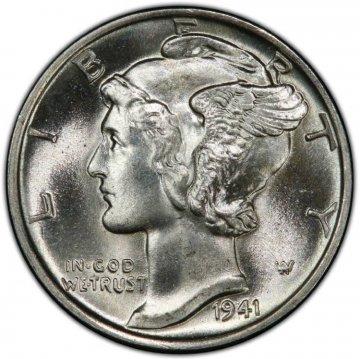 1941 Mercury Silver Dime Coin - Choice BU