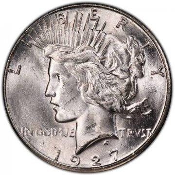1927-S Peace Silver Dollar Coin - Brilliant Uncirculated (BU)