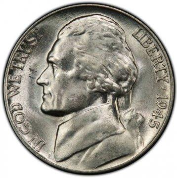 1945-D Jefferson War Nickel Silver Coin - Choice Uncirculated