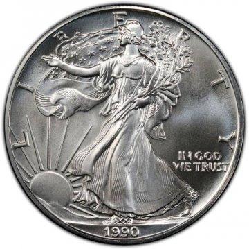 1990 1 oz American Silver Eagle Coin - Gem BU