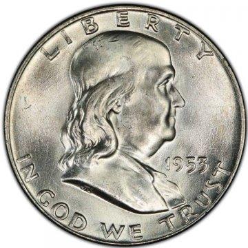 1953-D Franklin Silver Half Dollar Coin - Choice BU