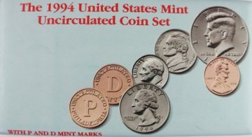 1994 U.S. Mint Coin Set