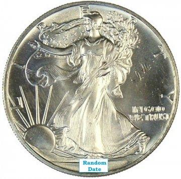 1 oz American Silver Eagle Coin - Average Uncirculated - Random Date