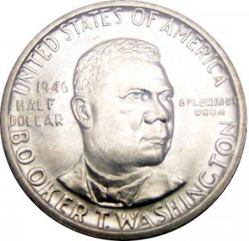 1946-51 Booker T. Washington Commemorative Silver Half Dollar Coin - Choice BU