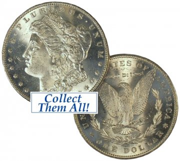 1887 Morgan Silver Dollar Coin - BU